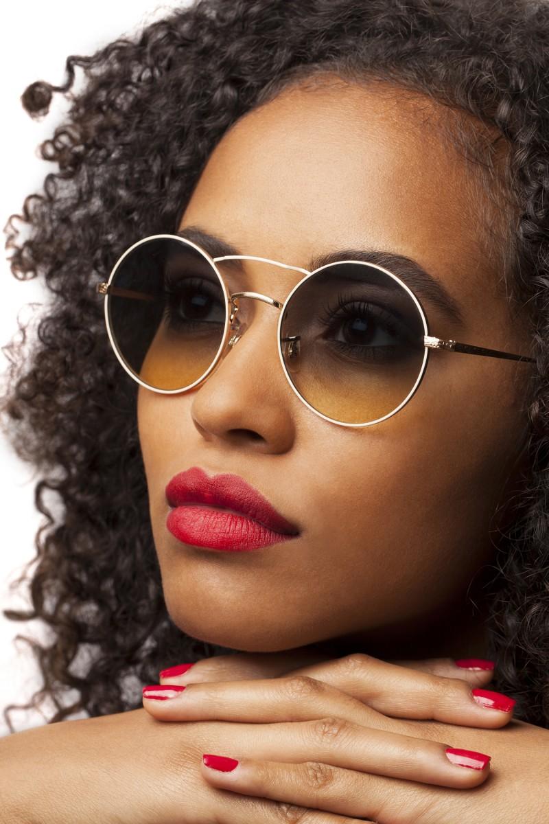 lunettes sur modele