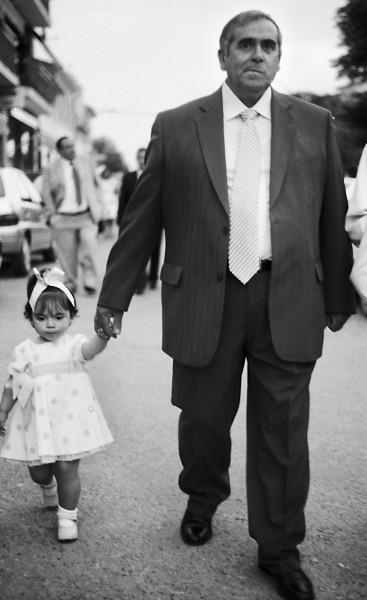 Invités du mariage, reportage photo en noir et blanc