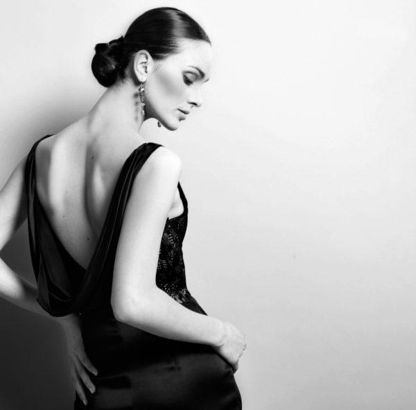 Photo mode, robe noir