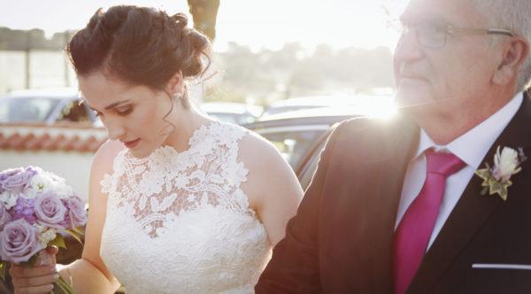 Photographie de mariage, entrée de la mariée