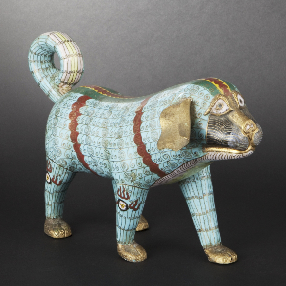 Photographie catalogue ouevre d'art: sculpture chien
