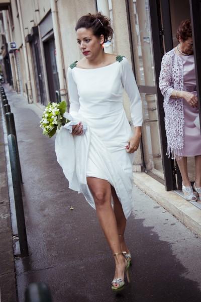 Mariée dans la rue